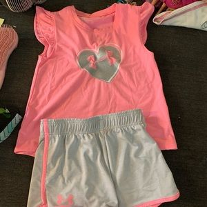 Under Armour Shorts and Tank Outfit
